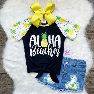 Girl Boutique Aloha Denim Outfit Set